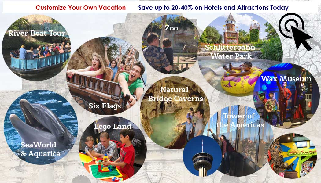 Customize Your Own Vacation Package - Save up to 30% on Hotels and Attractions