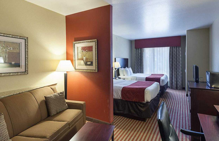 Comfort Suites San Antonio near Six Flags Fiesta Texas  - double
